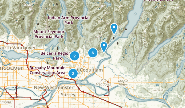 Coquitlam, British Columbia Trail Running Map