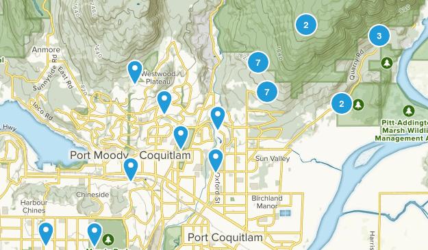 Coquitlam, British Columbia Views Map