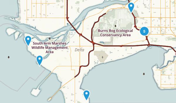Delta, British Columbia Birding Map