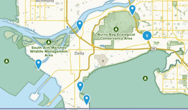 Delta, British Columbia Hiking Map