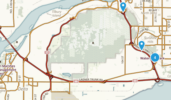Delta, British Columbia Nature Trips Map