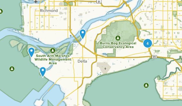 Delta, British Columbia Views Map