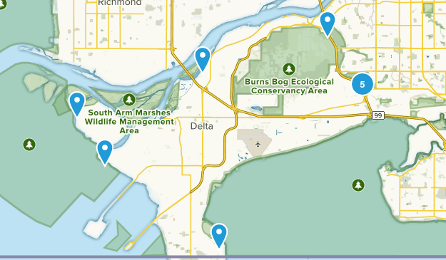 Delta, British Columbia Walking Map