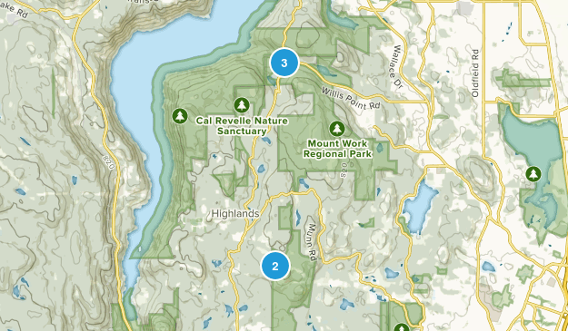 District Of Highlands, British Columbia Walking Map