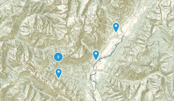 Fernie, British Columbia Camping Map