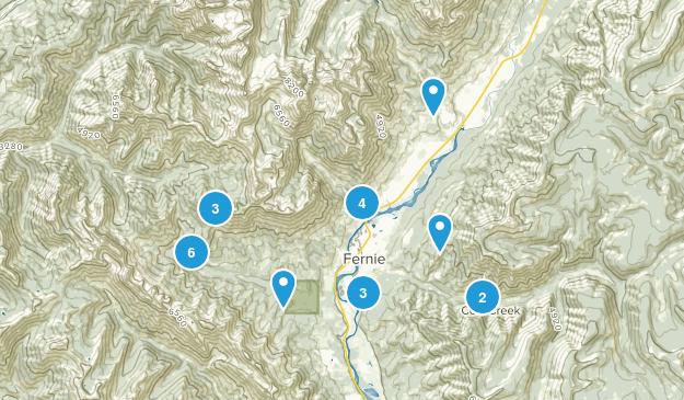 Fernie, British Columbia Hiking Map