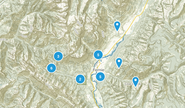 Fernie, British Columbia Nature Trips Map