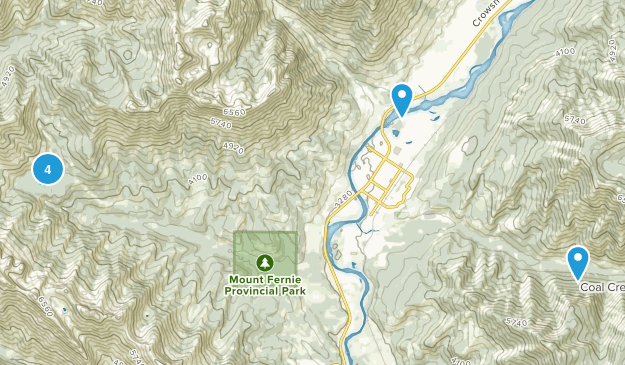 Fernie, British Columbia Trail Running Map