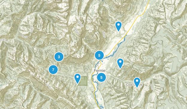 Fernie, British Columbia Views Map
