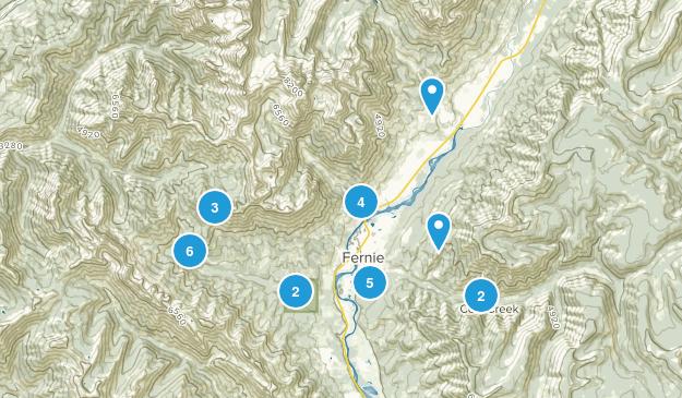 Fernie, British Columbia Walking Map