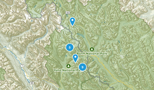 Field, British Columbia Hiking Map
