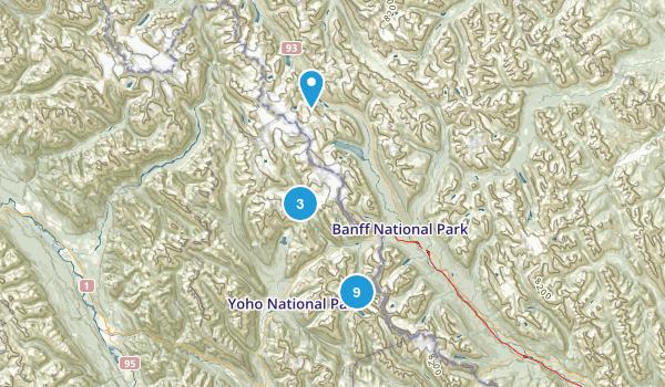 Field, British Columbia Lake Map