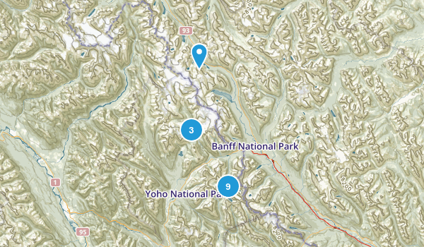 Field, British Columbia Nature Trips Map