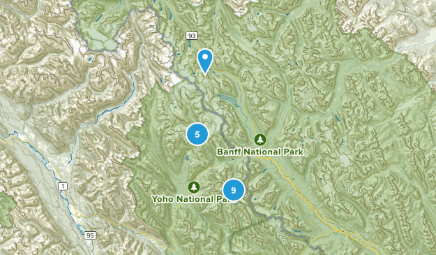 Field, British Columbia Views Map