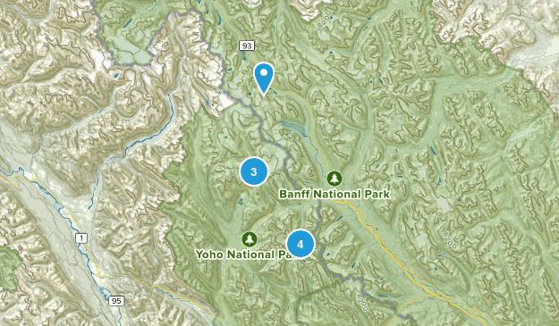 Field, British Columbia Wild Flowers Map