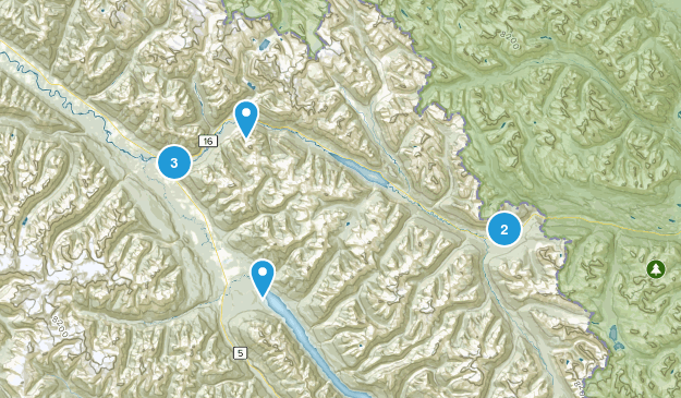 Fraser-Fort George H, British Columbia Hiking Map