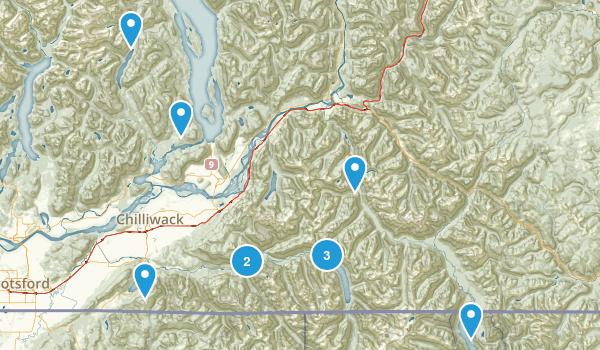 Fraser Valley, British Columbia Lake Map