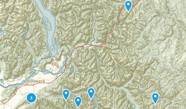 Fraser Valley, British Columbia Trail Running Map