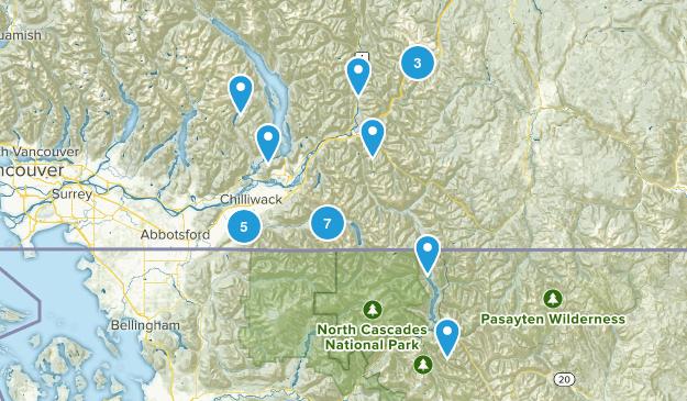 Fraser Valley, British Columbia Walking Map