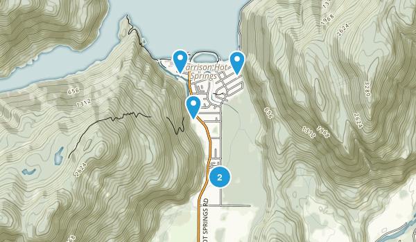 Harrison Hot Springs, British Columbia Walking Map