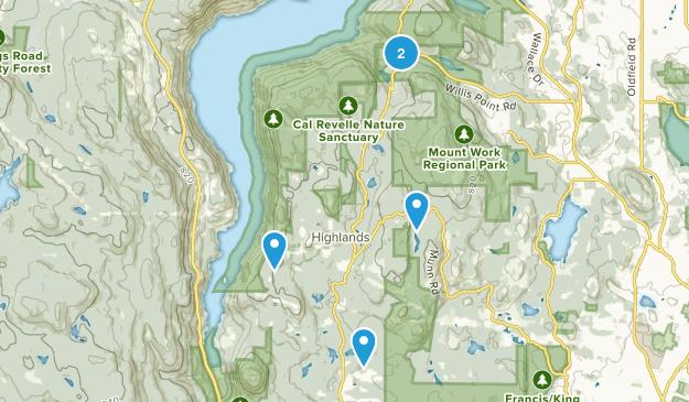 Highlands, British Columbia Trail Running Map