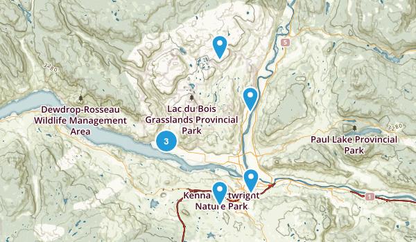 Kamloops, British Columbia Walking Map