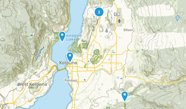Kelowna, British Columbia Birding Map