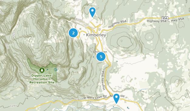 Kimberley, British Columbia Bird Watching Map