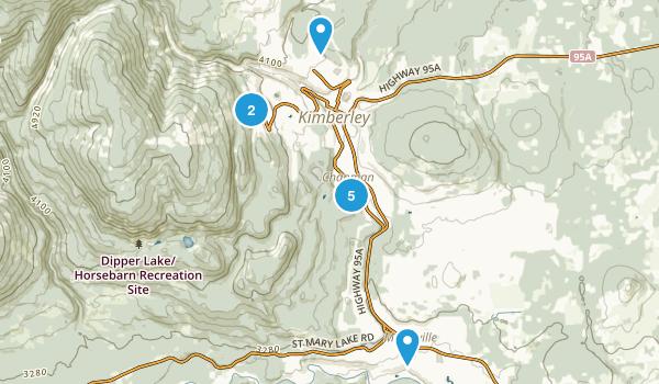 Kimberley, British Columbia Hiking Map