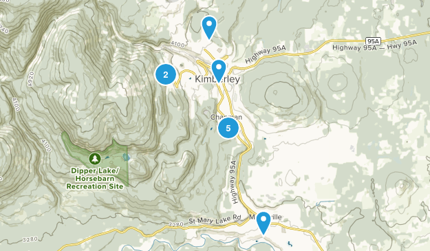 Kimberley, British Columbia Hiking Map