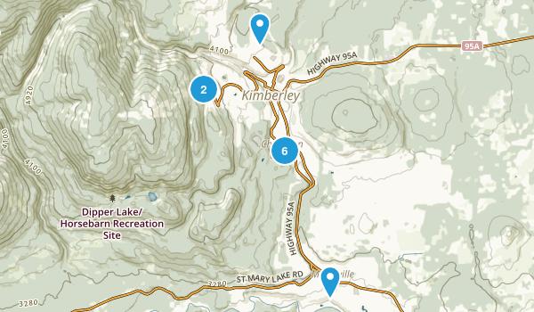 Kimberley, British Columbia Nature Trips Map