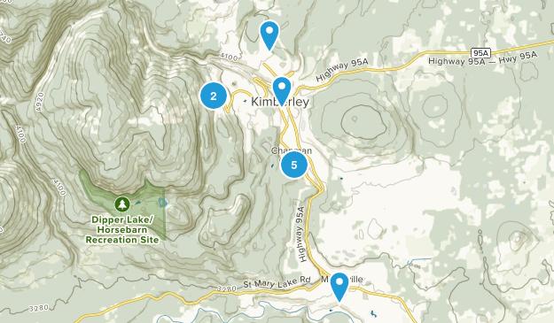 Kimberley, British Columbia Walking Map