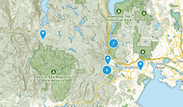 Langford, British Columbia Dogs On Leash Map