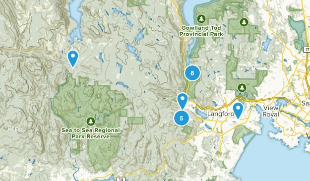 Langford, British Columbia Hiking Map