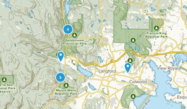 Langford, British Columbia Nature Trips Map