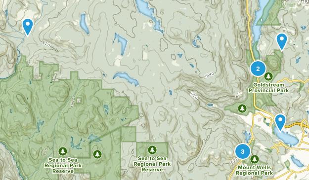 Langford, British Columbia Trail Running Map