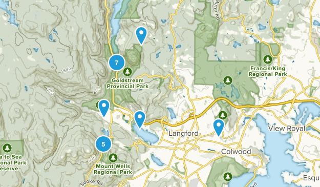 Langford, British Columbia Views Map