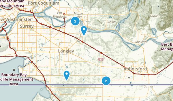 Langley Twp, British Columbia Walking Map