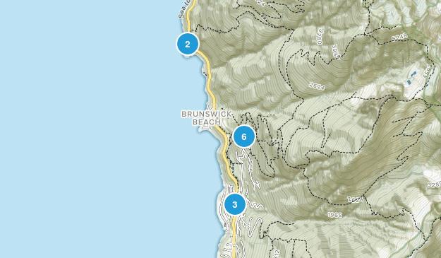 Lions Bay, British Columbia Hiking Map