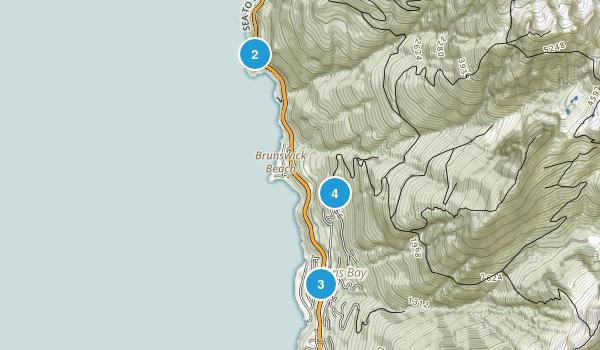 Lions Bay, British Columbia Walking Map