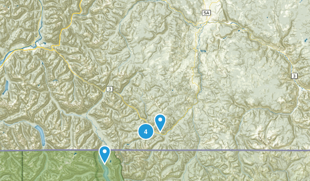 Manning Park, British Columbia Hiking Map