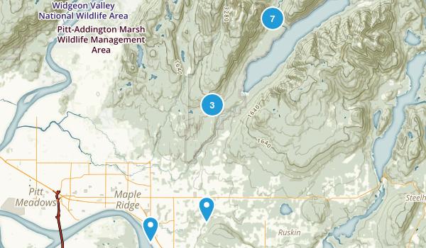 Maple Ridge, British Columbia Dogs On Leash Map
