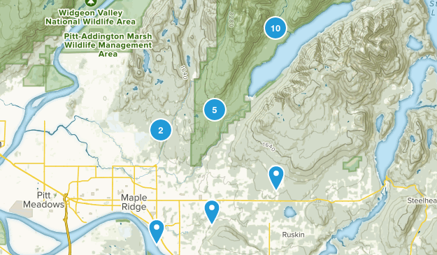 Maple Ridge, British Columbia Hiking Map