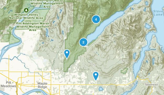Maple Ridge, British Columbia Lake Map
