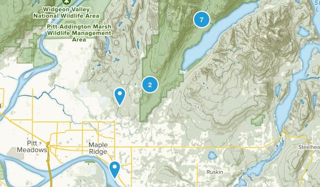 Maple Ridge, British Columbia Trail Running Map