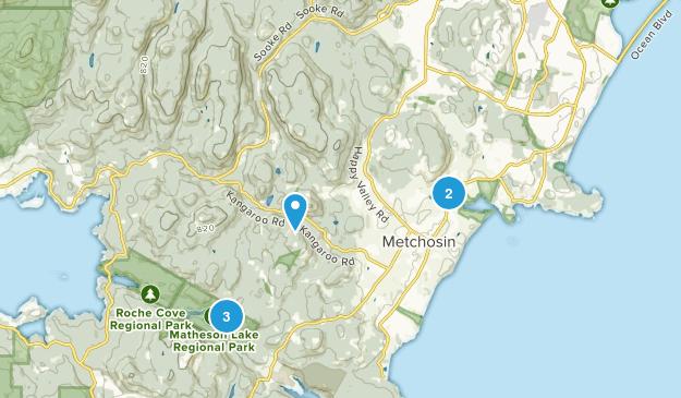 Metchosin, British Columbia Lake Map