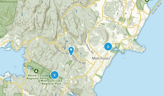 Metchosin, British Columbia Trail Running Map