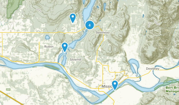 Mission, British Columbia Dogs On Leash Map