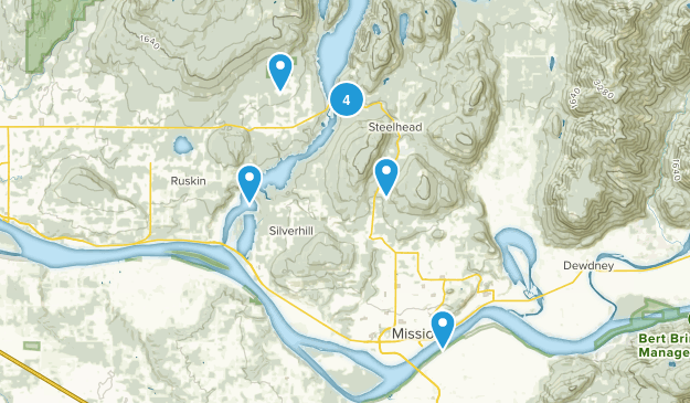 Mission, British Columbia Hiking Map