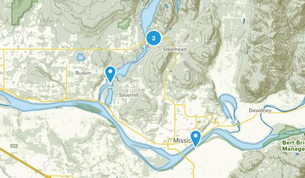 Mission, British Columbia Trail Running Map